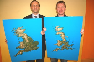 Nick campaigning with Steve Webb MP - this is what the British Isles might look like as a result of climate change