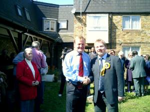 Nick campaigning with Charles Kennedy MP in 2005