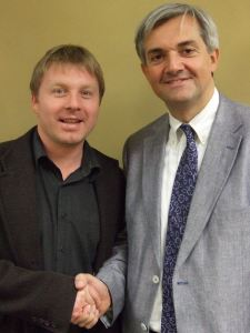 Nick with Chris Huhne MP (2)
