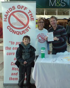 Nick working on the campaign with Margaret Williams at Priory Meadow