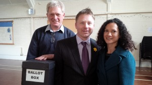 Nick with his partner Ruth and Association Chair, Chris Lewcock